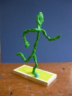 Alberto Giacometti,  wire and clay