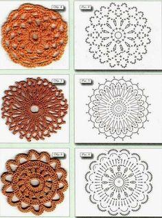 60 Gráficos de Flores de Crochê para Download - Grátis - Toda Atual