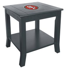 Show your San Francisco 49Ers spirit by having the 49ers logo displayed proudly on your NFL man cave side table. These beautiful side tables are made from select hard woods with a beautiful finish and