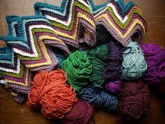 crochet inspiration -- I love chevrons
