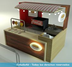 Starbucks coffee store furniture mobile coffee bar coffee for Construccion de modulos comerciales