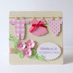 Baby Girl card (visit post for Boy version). po godzinach: Nowe kartki i rewelacyjne candy!