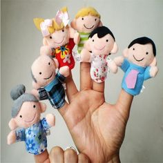 New 6 Pcs Finger Even Storytelling Good Toys Hand Puppet For Baby's Gift Free Shipping