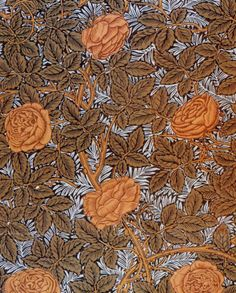 William Morris. Rose textile design, 1877.