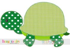 Turtle (Vintage Stitch) - Hang to Dry Applique