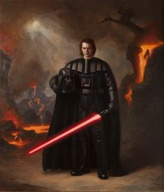 Portrait of Darth Vader by Steven J. Levin ......but his face wouldn't look that…