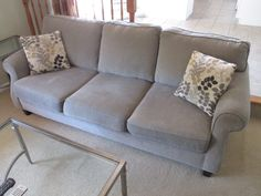 CONTEMPORARY SOFA Visit www.sellmystuffcanada.com for more great photos of eclectic estate sale items!
