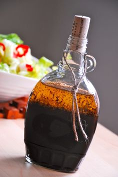 Reuse maple syrup bottles with an old wine cork very attractively for homemade salad dressing and other little gifts.