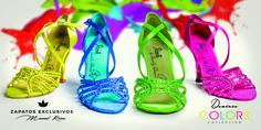 😍❤️💕 Loquita me tienen... ❤️😘 Los quiero todos!!!! • La próxima semana disponibles en venta Online y tiendas oficiales · www.reinadanza.com • #meloscomoabesos #locaporloszapatos #MisZapatosDeColores #amorporelbaile #danielydesireecollection #shoes #newbrandshoes #hechosamano #zapatosexclusivos #quierobailar #LosQuieroTodos #DesireeColoros #Bachata Desiree Guidonet DanielyDesirée Spain Bachata Spain