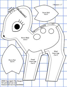 Free Fawn Plushie Sewing Pattern / Template