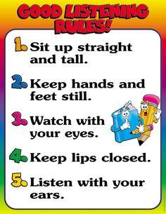 Good Listening Rules! Friendly Chart