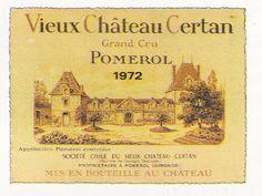Pomerol Vieux Chateau Certan 1972 French Wine Label