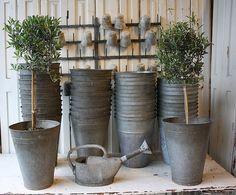Zinc Flower Buckets