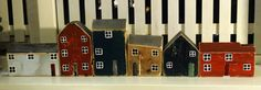 wooden houses made by: Ria Verdoorn.