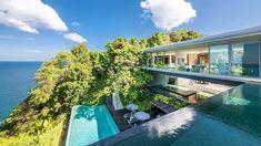 (1797) YouTube Tourist Sites, Minimal Home, Paradise Island, Rest Of The World, Luxury Villa, Phuket, Luxury Homes, Waterfall, Real Estate