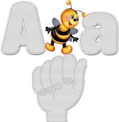 Alfabeto Decorativo: Alfabeto - Para Mudo e Surdo 3 - PNG - Letras - Ma...