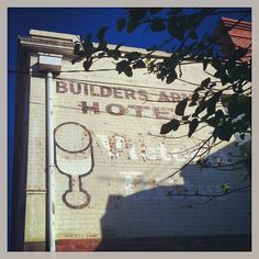 Fitzroy Builders Arms Hotel ghost sign, Melbourne