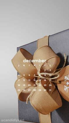 Present christmas time gold and navy December calendar 2016 wallpaper you can download for free on the blog! For any device; mobile, desktop, iphone, android!