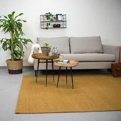 FRAAI Wollen vloerkleed Esra - Okergeel Home Living, Couch, Table, Room, Furniture, Home Decor, Happy, Bedroom, Decoration Home