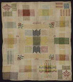 Dutch darning sampler 1799