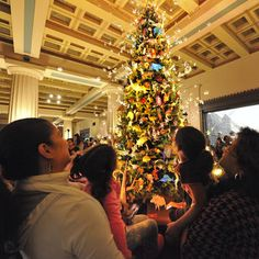 The Origami Holiday Tree is a beloved annual Tradition at the Museum.