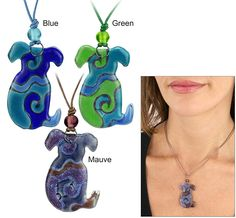 Dog Silhouette Artisan Glass Necklace #Christmas #Gifts #Ideas