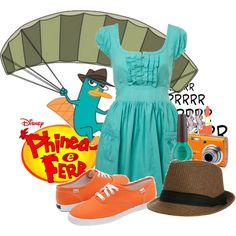 Perry the Platypus, Hilarious idea to put together outfits inspired by cartoon characters...but so cute!