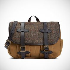 Fancy - Fabric & Leather Messenger Bag by Filson