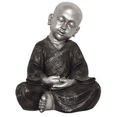 XXL Buddha Urn  Mediterende Shaolin Monnik  16 liter as-inhoud.  Voldoende voor de as van 4 dierbaren