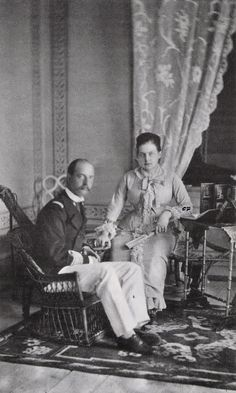 """King George I and Queen Olga of the Hellenes.  """"AL"""""""