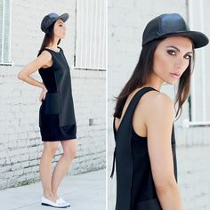 Marc By Marc Jacobs Marr Neoprene Overlay Dress, Asos Leather Cap, Yru Low F Kitty Flat