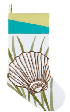 Holiday Oasis Scallop Shell Stocking