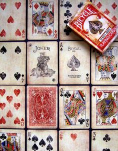 02 Vintage Series 1800 (red) - Bicycle playing cards