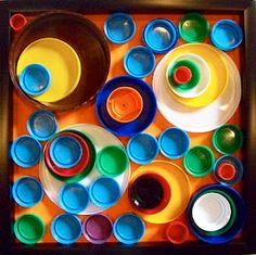 make art from recycled bottle caps