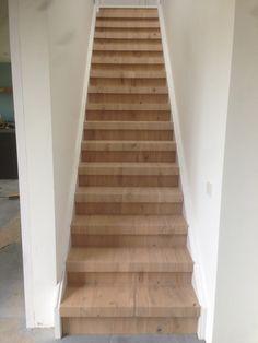 Afgeschuurde houten trap huis pinterest - Trap binnen villa ...