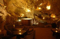 This isn't even that cool... Everybody has a hot tub made of Teak wood in a cave these days...  Pshh