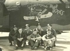 487th Bomb Group (H): Tintary Crew - 839th Squadron Back row, L to R: Captain Fulvio Tintary (pilot), 1st Lt Walter K. Timpson (co-pilot), 1st Lt Joe L. Soyars (bombardier), 1st Lt Louis Swiridow (navigator) Front row are unidentified so far Lt. Swiridow was later KIA while flying with the Schwab crew on 7-Jun-44