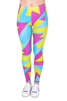 Females everywhere donned leotards, leggings, headbands and le. Yoga Pilates, Yoga Leggings, Women's Straight Jeans, Black Leotard, Patterned Leggings, Workout Shorts, 80s Workout, High Waist, Sports