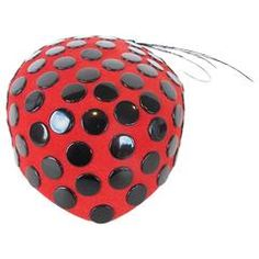 Frank Olive 1980's Red Hat with Nail-Head Studs