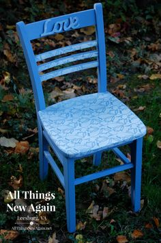 How To Update A Chair Using Lace and a Paint Sprayer From HomeRight.  Entry for Spray It Pretty. The Fab Furniture Flippin' Contest. #fabflippincontest