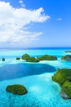 Blue and Green, Palau, Micronesia