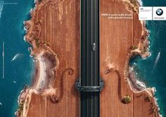 BMW: Takes you on the road that looks like a violins