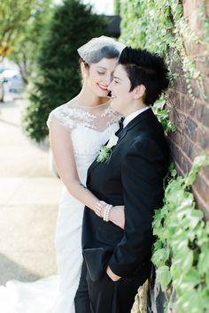 #brides, #samesex-wedding, #lesbian-wedding  Photography: Cly By Matthew - www.clybymatthew.com Wedding Dress: San Patrick - www.sanpatrick.com/