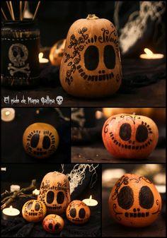decorar calabazas Halloween Fruit, Happy Halloween, Hallows Eve, Altar, Party Time, Diy, Parties, Halloween Crafts, Pumpkin Decorations