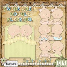 Double Trouble 1 - Exclusive Cheryl Seslar Country Clip Art