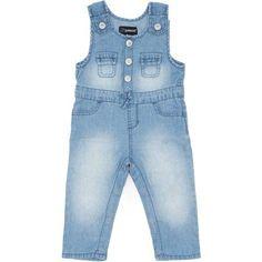 Jordache Newborn Baby Girl Denim (Blue) Overalls, Size: 0 - 3 Months
