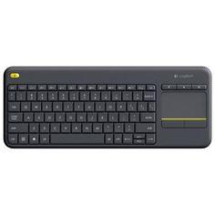 Logitech K400 Plus  — 2180 руб. —  Изящный и компактный дизайн Дизайн клавиатуры позволяет экономить место, не жертвуя удобством. Изящные линии и формы гармонично сочетаются с цветовым акцентом и орнаментом на сенсорной панели. Радиус действия беспроводной связи — 10 метров Теперь вы можете, не вставая с кресла, изменить громкость звука при просмотре видео на YouTube, приостановить показ слайдов, отснятых во время отпуска, или написать в блоге отзыв о загруженном видеоролике. Большая…