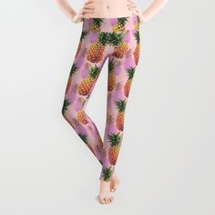 Juicy pineapple leggings - Front http://society6.com/product/juicy-pineapple-2jk_wall-clock#33=283&34=285