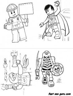 Print out lego super heroes coloring page for boy - Printable Coloring Pages For Kids