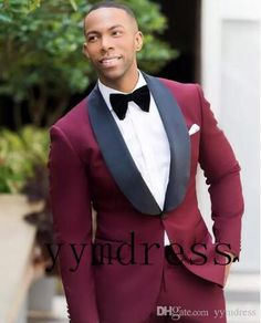 High quality Custom made Men Suits Shawl Lapel 2 Pieces Jacket and Pants For Wedding Groom Prom Party Tuxedos Masculino Blazers Black Tuxedo Wedding, Black Bride, Burgundy Wedding, Green Wedding, Wedding Men, Wedding Attire, Wedding Ideas, Wedding Groom, Wedding Suits For Men